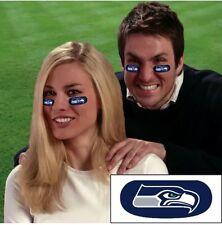 NFL seattle seahawks 6Pack Eye Black Strips Vinyl Face Decorations Sticker