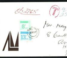 SOUTH AFRICA Cover Bloemfontein ZIMBABWE Avondale POSTAGE DUE 1987{samwells}EB92