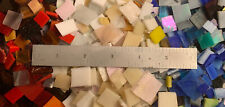 2 +lbs. Stained Glass Mosaic Glass Scrap Small Square multi Over 900 Tiles