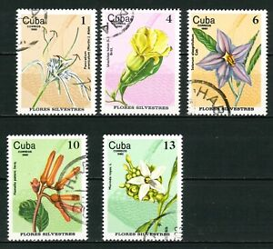 CARIBBEAN OLD STAMPS 1980 - Forest Flowers - USED/CTO (NON COMPLETED SET)