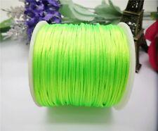 70Meter Hot Chinese Knot Satin Nylon Braided Macrame Beading Rattail Cord 1.5mm