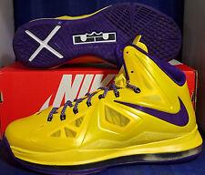 2012 Nike Lebron X 10 iD Los Angeles Lakers LAL SZ 9 ( 578346-991 )