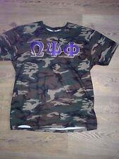 Omega Psi Phi Camouflage T-Shirt-- Large