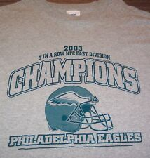 RETRO PHILADELPHIA EAGLES 2003 NFC EAST CHAMPS NFL FOOTBALL T-shirt Shirt  LARGE 06ee6a82b