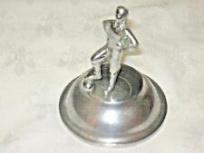 A Vintage 1940's Chrome Cast Plinth Soccer (Football) Player Statue Trophy