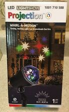New Gemmy Whirl-a-Motion Red Green Blue Swirling Stars Led Projection Light Show