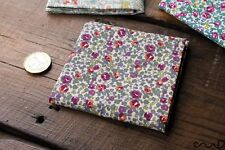 Handmade Unisex Pocket Square Floral100% Cotton handkerchief Wedding Gift