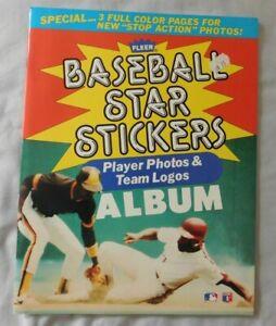 1985 Fleer Baseball Sticker book  unused