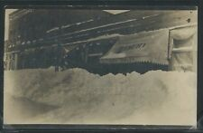 IL Sullivan RPPC 1911 SNOW PILED on STREET Mike Finley Bakery One of a Kind