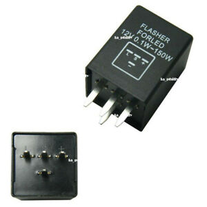 New 4-Pin EP29 LED Flasher Relay Fix For LED Turn Signal Lamps Hyper Flash
