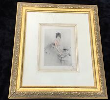 Rare WW1 Louis Icart Drypoint Etching in Color - Signed and Titled - Circa 1919