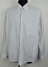GANT Regular Fit Mens XL Long Sleeved Formal Shirt Casual White Check Tartan Top
