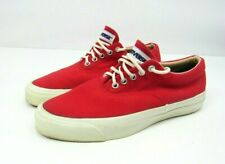Vintage 80s Converse Usa Made Skid Grip Red Canvas Shoes Men Size 6.5 Women 8.5