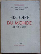 Histoire du Monde de 1919 à 1937 - Collection Montaigne - Aubier -