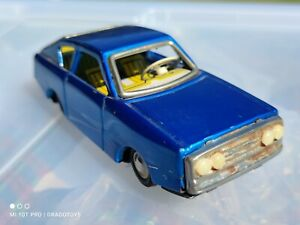 VINTAGE TIN TOY CAR MF 234 FRICTION COUPE RARE BLUE MODEL MADE IN CHINA