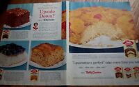 1955 Betty Crocker UPSIDE DOWN Cake Two Page Ad