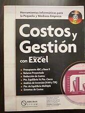COSTO Y GESTION con Microsoft EXCEL (Spanish Edition)