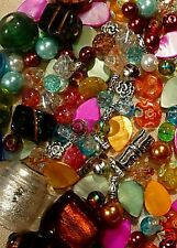 Mixed Lots 200 Jewellery Making Glass Beads Shell Tibetan Lampwork