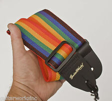 Guitar Strap RAINBOW Nyon Fit All Acoustic & Electric & Bass Made USA Since 1978