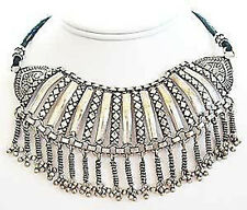 Handcrafted, India, Silver Necklace. Ethnic, Tribal