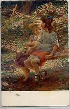 PIETRO CHIESA L'Amaca Bambini PC Circa 1917