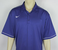 Mens Nike DRI FIT Polo Golf shirt short sleeve Purple Size XXL