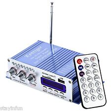 USB FM SD Audio Music Player 2-CH Hi-Fi Motorcycle Car Stereo Power Amplifier