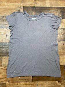 Athleta Womens Purple Short Sleeve Lightweight Tee Shirt TShirt Top Size Medium