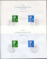 SAAR 1958 439-440+ BUND 295-296 EUROPA SONDERBLATT 90€(I9023c