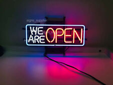 """New We Are Open Neon Light Sign 17""""x14""""  Beer Bar Decor"""