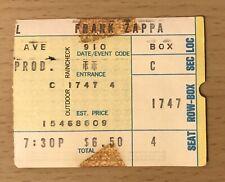 1972 The Doors / Frank Zappa Hollywood Bowl Concert Ticket Stub Light My Fire