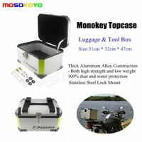 Motorcycle Outback Monokey Top Box AlumInium Rear Storage Case Luggage Universal