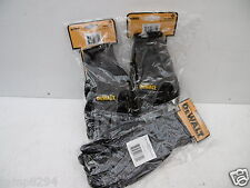 3 X PAIRS OF DEWALT BLACK & GREY NITRILE NYLON WORK GLOVES LARGE DPG66L