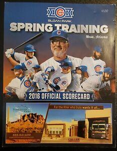 2016 Chicago Cubs Spring Training Scorecard World Series Championship Team