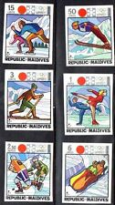 Maldives 1972 SAPPORO OLYMPICS  imperforated  CV.$9.75 (for PERF.) SKATING SLED