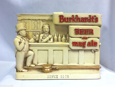 Burkhardt's beer sign bar scene mug ale chalk statue chalkware figure old AE7