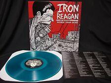 Iron Reagan Worse Than Dead LP Blue Vinyl Municipal Waste Toxic Holocaust D.R.I