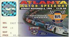 NASCAR 1998 Napa 500 Atlanta Race Ticket Stub - Jeff Gordon Win