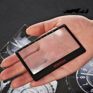 5pc Credit Card Size Pocket Magnifier Fresnel Lens Ruler Fire Starter Wallet
