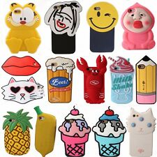 Latest 3D Cute Cartoon Soft Silicone Back Rubber Cover Case For iPhone 5s 6 Plus