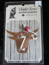 Cow Thinker Series Pocket Puzzles Genuine Leather Skor Mor Send .25 Nos