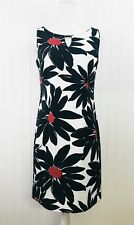 Ronni Nicole Black, White and Red Floral Shift Dress Size 6