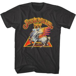 Steve Miller Band Pegasus Logo Men's T Shirt California Rock Band Concert Merch
