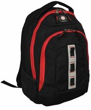 """SwissGear Wenger The Complex 16"""" Inch Padded Laptop Computer Backpack Black Red"""