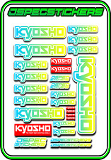 KYOSHO RC RACING STICKER SHEET A5 MINI Z BUGGY CAR NITRO ELEC DRONE BLUE YELL W