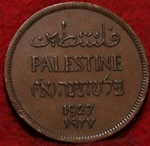 1927 Palestine 1 Mil Foreign Coin