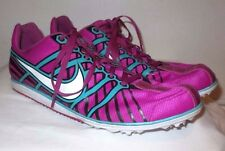 Women's 9.5 Nike Purple Zoom Rival D 6 Distance Track Field Spikes Running Shoes