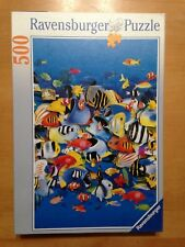 Ravensburger Puzzle ~Rush Hour~ Jigsaw 500pc COMPLETE Tropical Fish Ocean EUC!