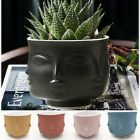 Creative Design Multi Face Planter Nordic Ceramic 3D Flower Pot Decoration Vases