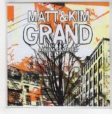 (GH952) Matt & Kim, Grand Album Sampler - 2009 DJ CD